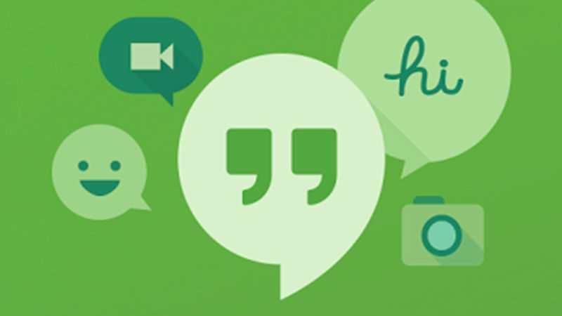 Hangout برای تماس صوتی و تصویری