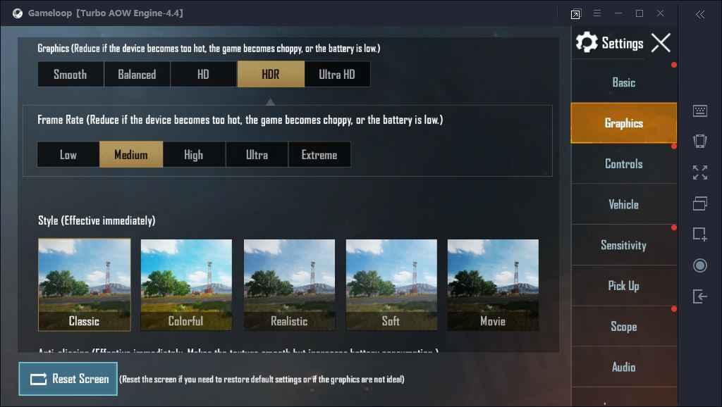 اجرای PUBG با کیفیت HDR در GameLoop
