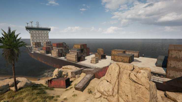 Cargo Ship یکی از مکان های عالی برای لوت