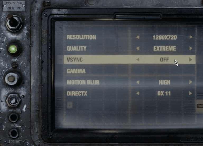 تنظیمات Video بازی مترو اکسدس