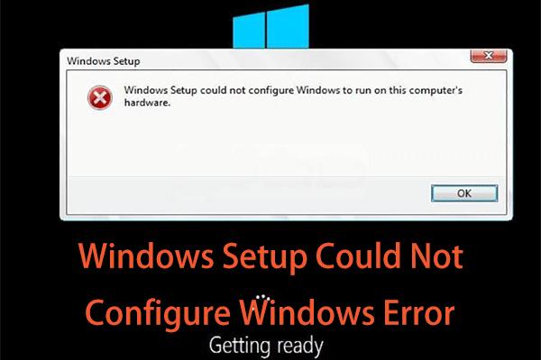 رفع ارور windows setup could not configure to run on this computer's hardware